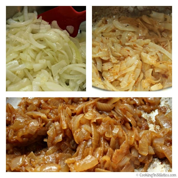 Caramelized Onion Dip - The Stages of Caramelizing Onions| Cooking In Stilettos