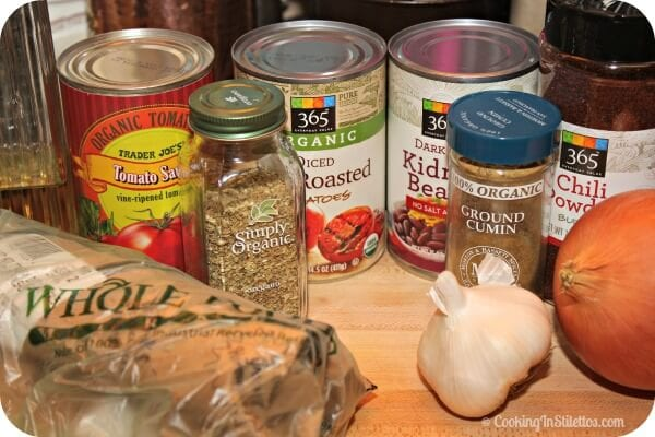Italian Sausage Chili - Ingredients | Cooking In Stilettos