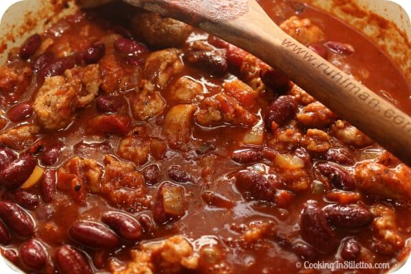 Italian Sausage Chili - Time to Simmer | Cooking In Stiletto