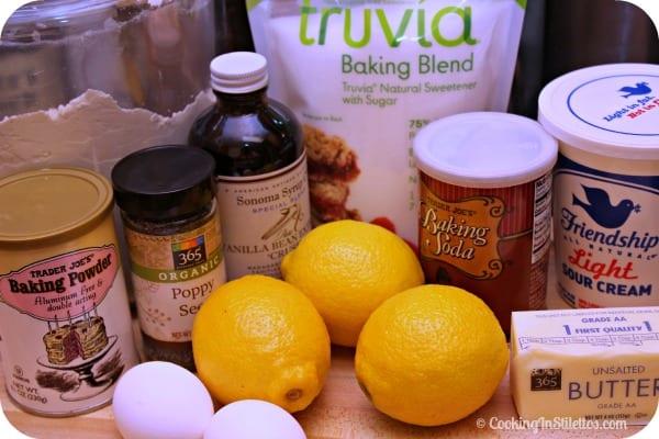Truvia Lemon Poppy Seed Muffins - Ingredients   Cooking In Stilettos