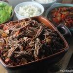 Machaca aka Slow Cooker Beef Brisket | Cooking In Stilettos
