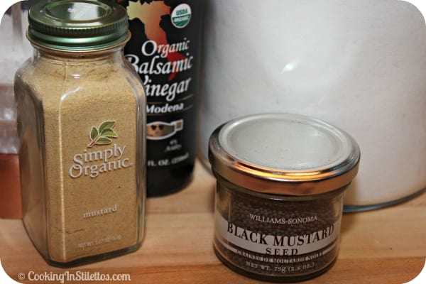 Rustic Balsamic Mustard - Ingredients| Cooking In Stilettos