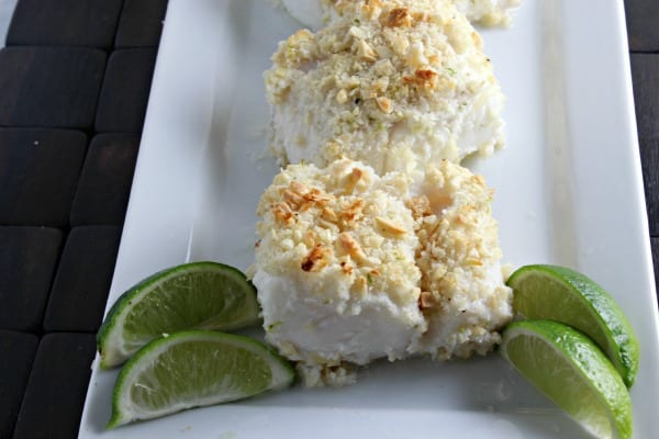 Coconut Almond Crusted Cod | CookingInStilettos.com