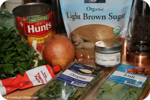Easy Homemade Marinara Sauce - Ingredients   Cooking In Stilettos