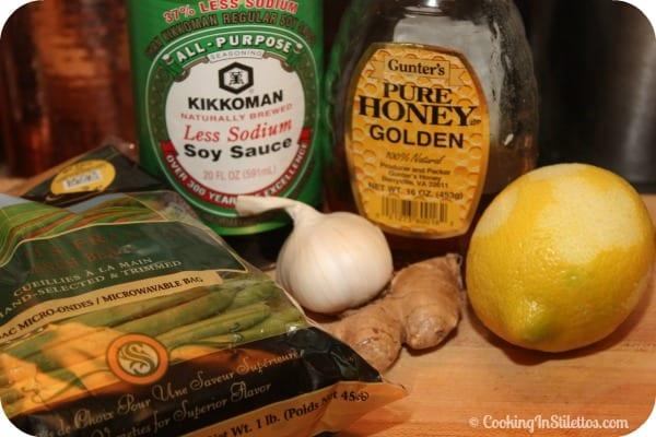 Honey Ginger Green Beans - Ingredients   Cooking In Stilettos