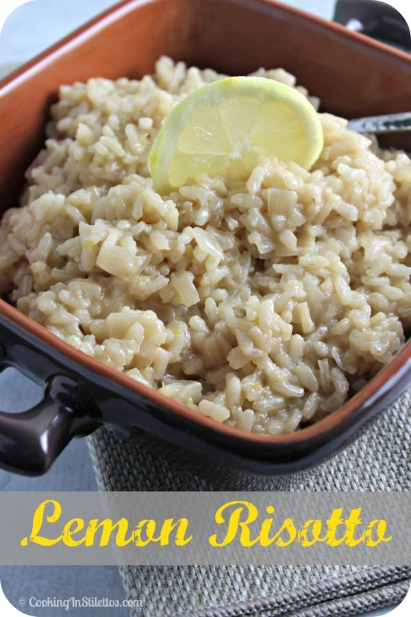 This tried and true Lemon Risotto from CookingInStilettos.com is full of citrus flavor packed into each rich and creamy bite and is so easy to make - perfect for entertaining or weeknights! | @CookInStilettos