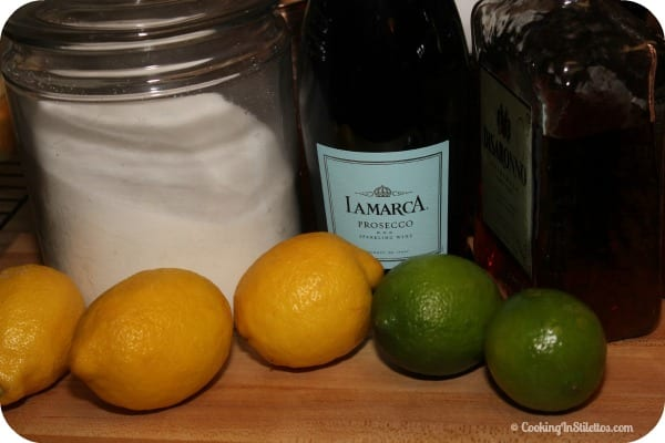 Sparkling Amaretto Sour - Ingredients | Cooking In Stilettos