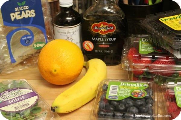 Berry Mint Fruit Salad - Ingredients   Cooking In Stilettos