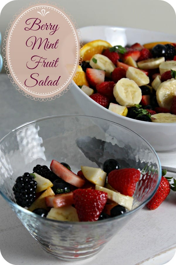Berry Mint Fruit Salad | Cooking In Stilettos