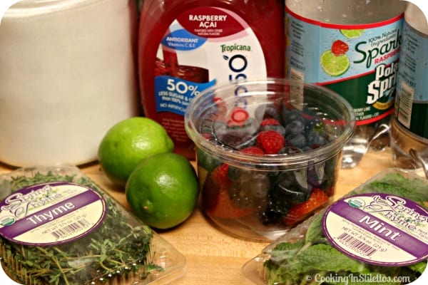 Berry Thyme Spritzer - Ingredients | Cooking In Stilettos