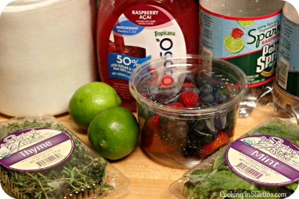 Berry Thyme Spritzer - Ingredients | CookingInStilettos.com