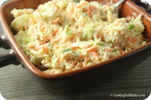 Lightened Up Coleslaw | Cooking In Stilettos