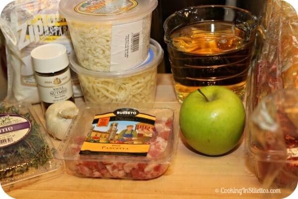 Easy Cheese Fondue - Ingredients | Cooking In Stilettos