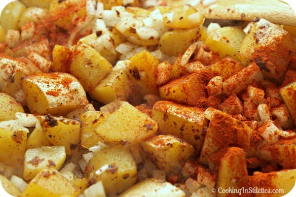 Sausage Hash - Time to Add The Spices | Cooking In Stilettos