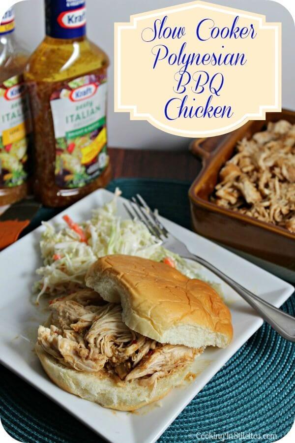 Slow Cooker Polynesian BBQ Chicken | Cooking In Stilettos