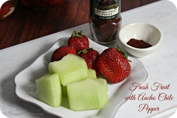 Sweet and Savory Food Pairings - Fresh Fruit and Ancho Chile Powder | Cooking In Stilettos