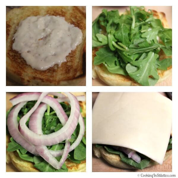 Beef Short Ribs Burgers With Horseradish Cream Sauce - Assembling the Burger   Cooking In Stilettos
