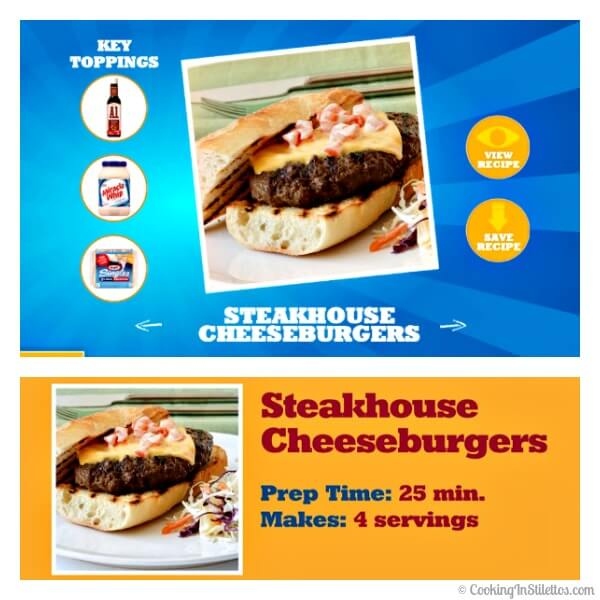 Steakhouse Cheeseburger Recipe on Blippar  | Cooking In Stilettos
