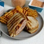 Turkey Burger Patty Melts with Caramelized Onions and Comeback Sauce – Perfect for The Grill