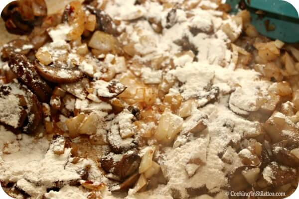Homemade Tuna Casserole - Adding the Flour | Cooking In Stilettos