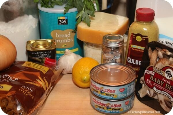 Homemade Tuna Casserole - Ingredients   Cooking In Stilettos