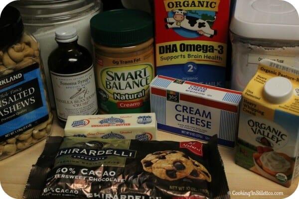 Peanut Butter Mousse with Caramelized Cashew Brittle - Ingredients | CookingInStilettos.com