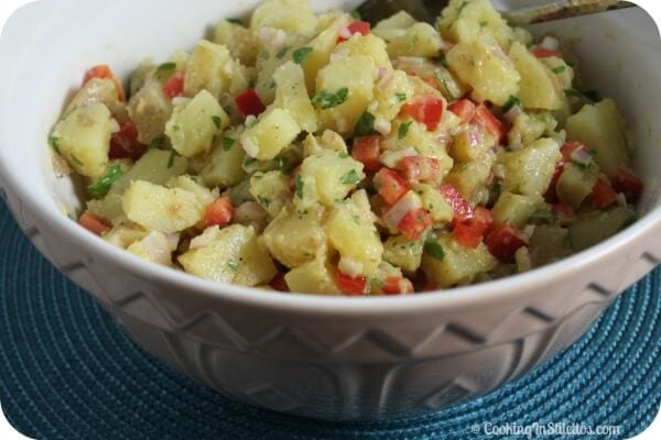 Warm Potato Salad | Cooking In Stilettos