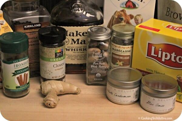 Bourbon Laced Vanilla Chai Latte - Ingredients | CookingInStilettos.com