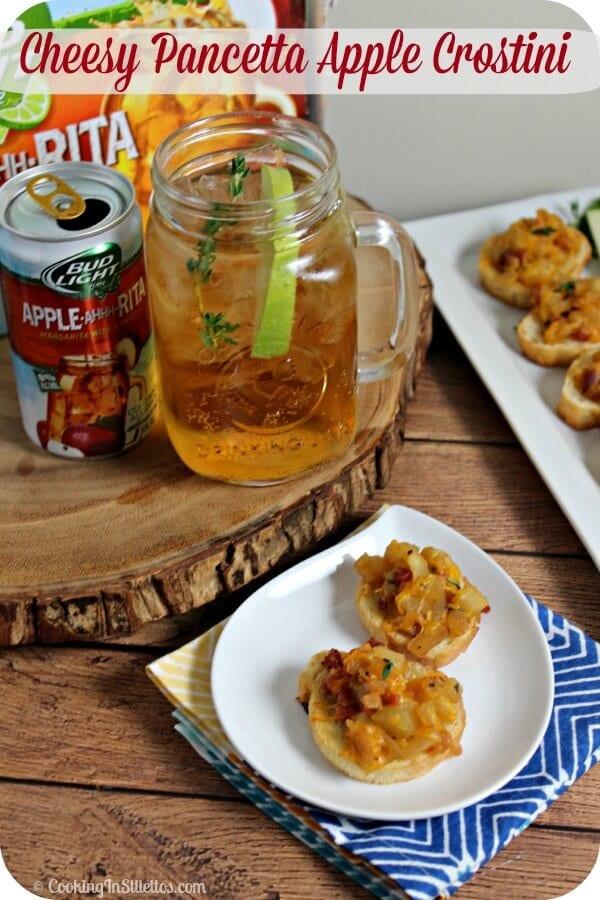 Cheesy Pancetta Apple Crostini | Cooking In Stilettos