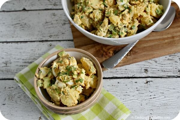 Deviled Egg Potato Salad | CookingInStilettos.com