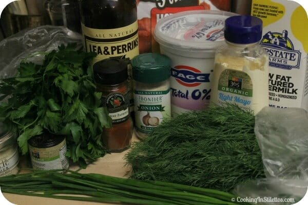 Herbalicious Ranch Dip - Ingredients | Cooking In Stilettos