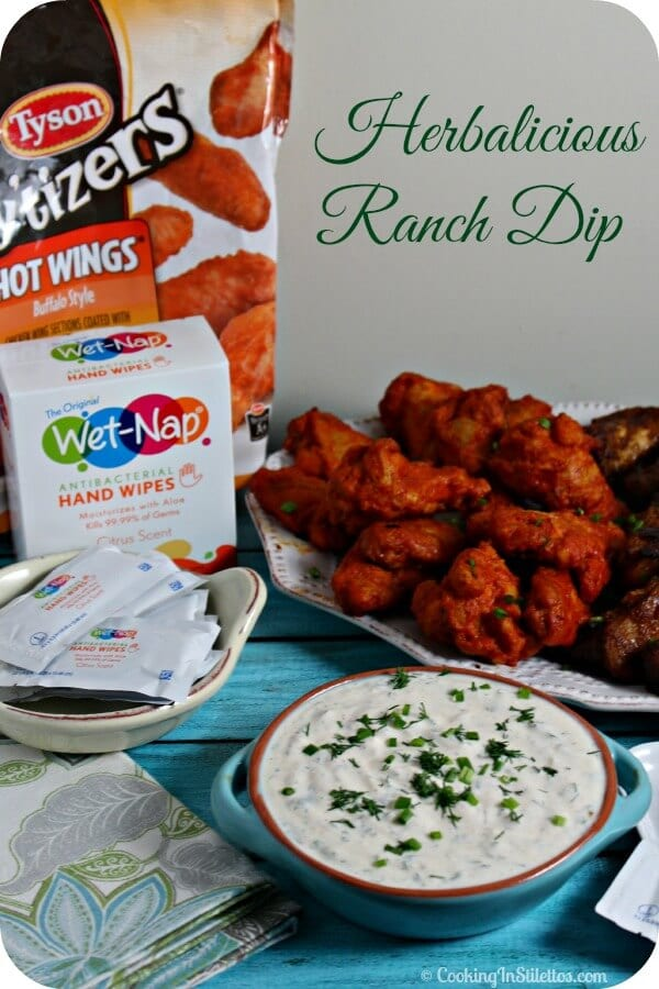 Herbalicious Ranch Dip | Cooking In Stilettos