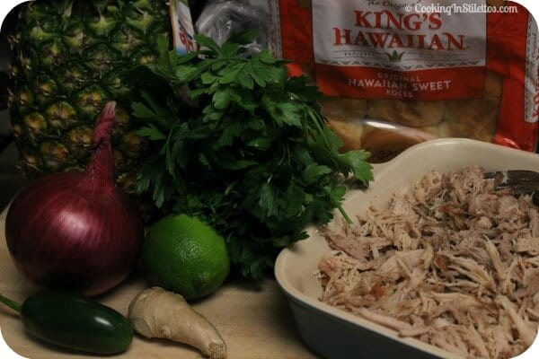 Kalua Pork Slider with Spicy Pineapple Relish - Ingredients | Cooking In Stilettos