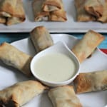 Philly Cheesesteak Egg Rolls With Zesty Provolone Cheese Dip #10DaysofTailgate