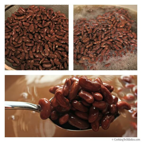 Slow Cooker Red Beans and Rice - Quick Cooking the Beans   Cooking In Stilettos