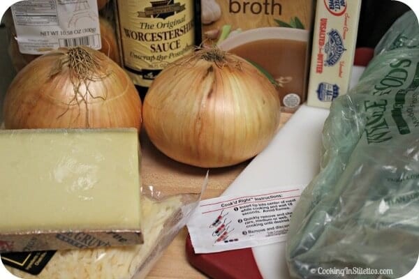 French Onion Burgers with Gruyere Cheese Sauce - Ingredients | Cooking In Stilettos