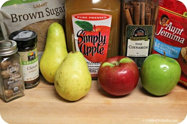 Roasted Pear and Apple Syrup - Ingredients | Cooking In Stilettos