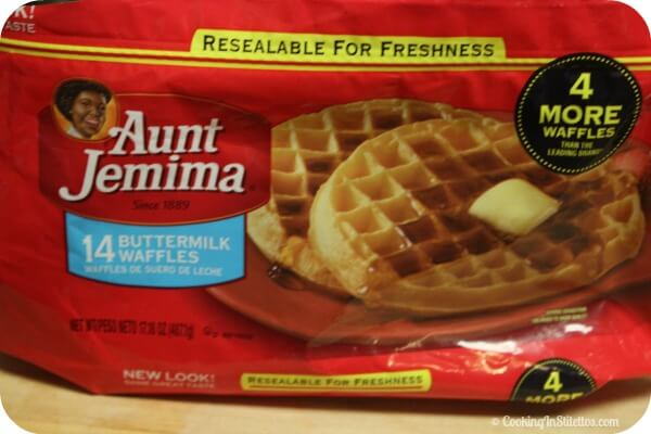 Roasted Pear and Apple Syrup - Aunt Jemima Waffles | Cooking In Stilettos