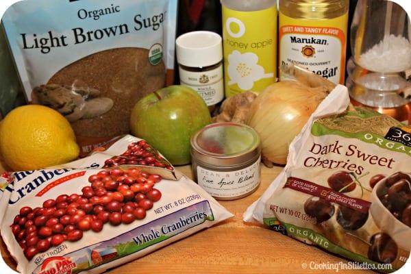 Spiced Cherry Cranberry Chutney - Ingredients | Cooking In Stilettos