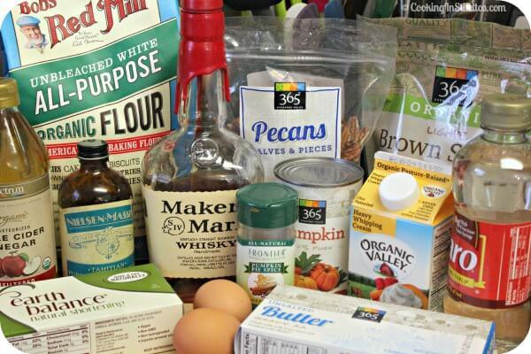Bourbon Pecan Pumpkin Pie - Ingredients | Cooking In Stilettos