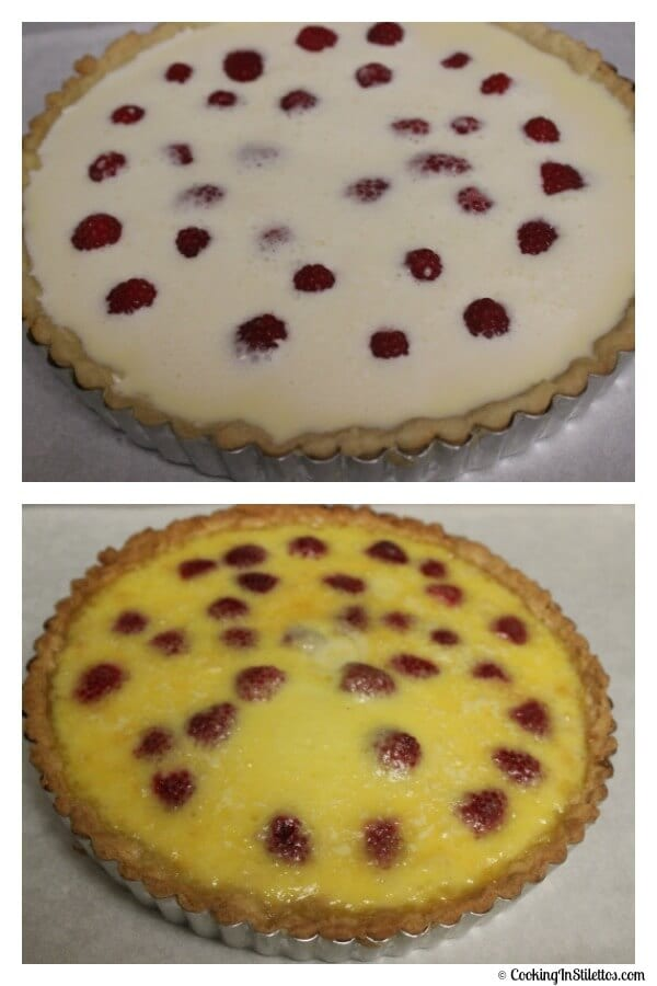 Creme Brulee Tart - Before and After Baking | Cooking In Stilettos