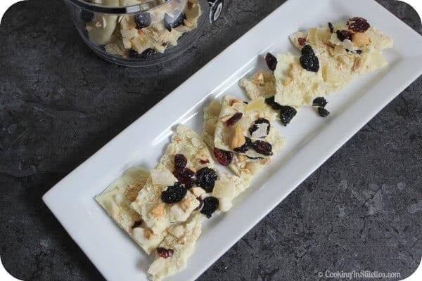Hawaiian Crunch White Chocolate Bark | Cooking In Stilettos