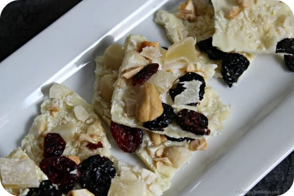 Hawaiian Crunch White Chocolate Bark | Cooking In Stilettos