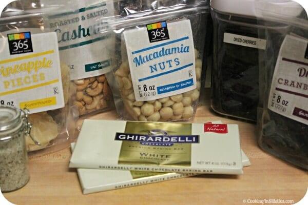 Hawaiian Crunch White Chocolate Bark - Ingredients| Cooking In Stilettos