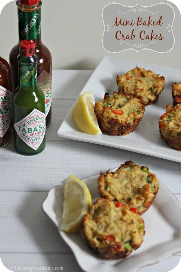 Mini Baked Crab Cakes | Cooking In Stilettos