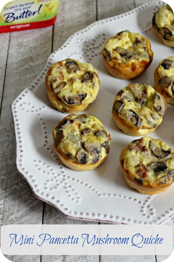Mini Pancetta Mushroom Quiche | Cooking In Stilettos