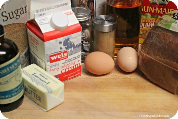 Mini Spiced Rum Raisin Bread Pudding - Ingredients | Cooking In Stilettos