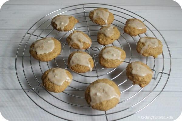 Pineapple Cookies with Vanilla Rum Glaze | Cooking In Stilettos