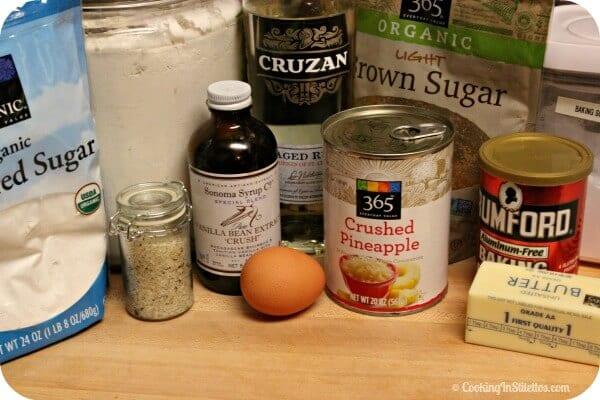 Pineapple Cookies with Vanilla Rum Glaze - Ingredients | Cooking In Stilettos