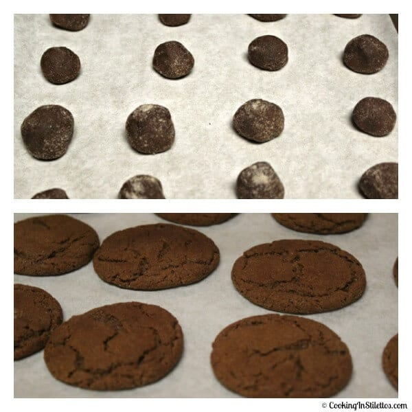 Ginger Snaps -Before and After The Oven | Cooking In Stilettos